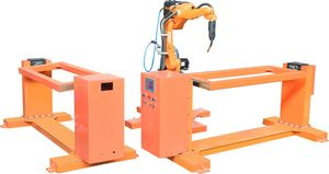 Japan kawasaki six spindle arc welding robot